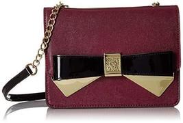 Anne Klein Lustworthy Crossbody/Handbag in Bordeaux/Black - $38.87