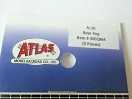 Atlas # 4002064 Beer Keg 5 Pieces 3D Printed Accessories N-Scale image 2