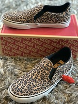 Vans Slip-On Women's Asher Deluxe Cheetah Skate Shoes Sz 6  NIB - $66.00