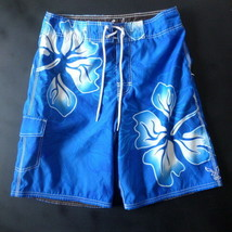 American Eagle Mens Board Shorts 30 Blue Floral - $10.23