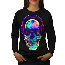 Skull Music Festival Jumper Headphone Women Sweatshirt - $18.99