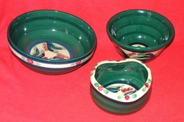 Lot of 3 Vintage Gail Pittman Hand Painted Cera... - $24.20