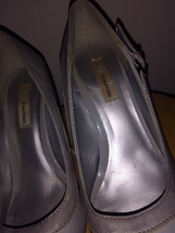 Size Grey Pumps Heel Maurice's Patent High Leather 5 Gray 6 6PtxtR