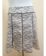 White House Black Market 14 Skirt Black White Zebra Animal Print Scallep... - $34.28