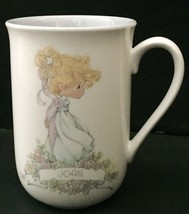 Vtg Precious Moments Joan Mug Name Meaning Coffee Cup 1990 Cherished One - $14.84