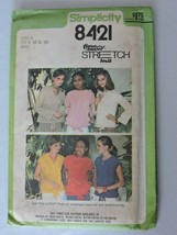 Simplicity Sewing Pattern 8421 Misses Pullover Tops Shirts Vintage 1978 ... - $7.64