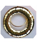 Jeri Lou scarf clip round gold tone signed 2000s - $10.95