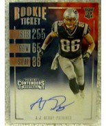 A.J. DERBY RC 2016 PANINI CONTENDERS DRAFT PICKS AUTOGRAPH-PATRIOTS TE RC - $9.89