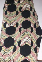 Lularoe Disney OS Leggings Minnie Mouse aztec Chevron one size - $27.35