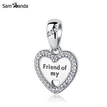 Buy 2017 Authentic 925 Sterling Silver Bead Charm 1Pc Hearts of Friendship - $10.99