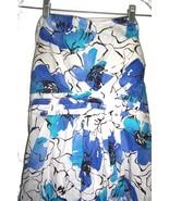 Plus Sz 2X - NWT Chesley Blue & White Floral Strapless Sundress Dress - $23.74