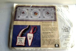 Cross Stitch Kit  Creative Circle 6147  PANSY TABLE Runner  Vintage 1986 - $12.99