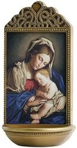 """SASSOFERRATO MADONNA AND CHILD 6"""" HOLY WATER FONT - $43.71"""