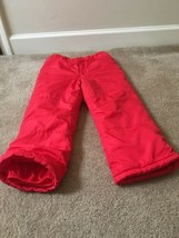 Just one You Carter's Kids Winter Snow Ski Lined Pants Sz 7 Red - $33.26