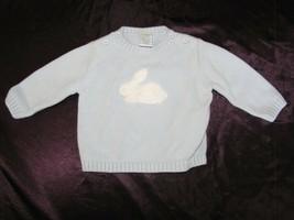 Vintage 2003 Gymboree Baby Boy Blue Easter Bunny Rabbit Sweater 6-9 mos - $19.79