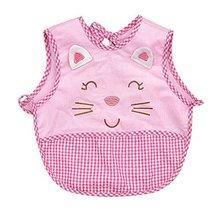 Cute Cartoon Cat Sleeveless Baby Bibs Baby Feeding Bibs Light Pink, 0-1.5 Years