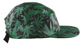 Dissizit Black Green Hawaii Pakalolo Weed Marijuana 5-Panel Strapback Hat Cap NW image 3