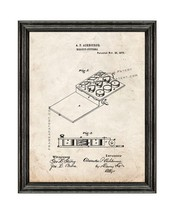 Biscuit Cutters Patent Print Old Look with Black Wood Frame - $24.95+
