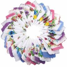 30 Pieces Women Soft Cotton Pocket Handkerchiefs Ladies Hankies Vintage ... - $39.95