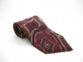 Pierre Cardin Burgundy Multicolor Tie - $5.99