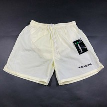 Vintage Diadora Mens S White Yellow Lined Soccer Football Shorts NWT - $23.38