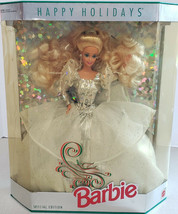 1992 Happy Holidays Special Edition Barbie Doll by Mattel 1429 Damaged Box - $24.75