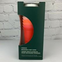 Starbucks 2019 Reusable Hot Cups With Lids Christmas Set Of 5 Venti 24oz NEW image 2