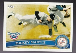 MICKEY MANTLE 2012 TOPPS OPENING DAY #7 NEW YORK YANKEES  - $1.98