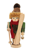 """Seasonal Christian Ulbricht Skier Nutcracker - 7.175""""H x 3.25""""W x 3.25""""D - $66.00"""