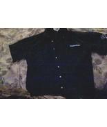 HUDSON NEWS GROUP-Retail Employee Uniform Shirt-Blue-Short Sleeve-Size:L... - $7.19