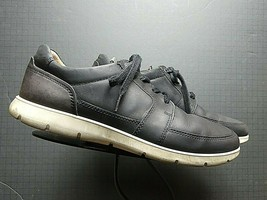 Men's ECCO Oiled Black Leather Casual Oxford Sz. 45/12 EXCELLENT! - $42.28