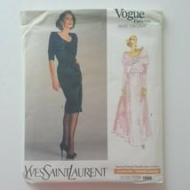 Vintage Vogue Paris Original Yves Saint Laurent 1996 Dress Pattern Size 12 - $17.81