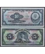 Banco de Mexico 5 & 10 Pesos Uncirculated Notes - $16.95