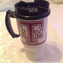 NCAA Texas A&M Whirley beverage travel 16 oz insulate thermos tumbler lid  - $16.99