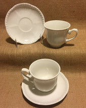 Johnson Brothers Old English White Cups Saucers 2 Sets More Available Ex... - $14.99