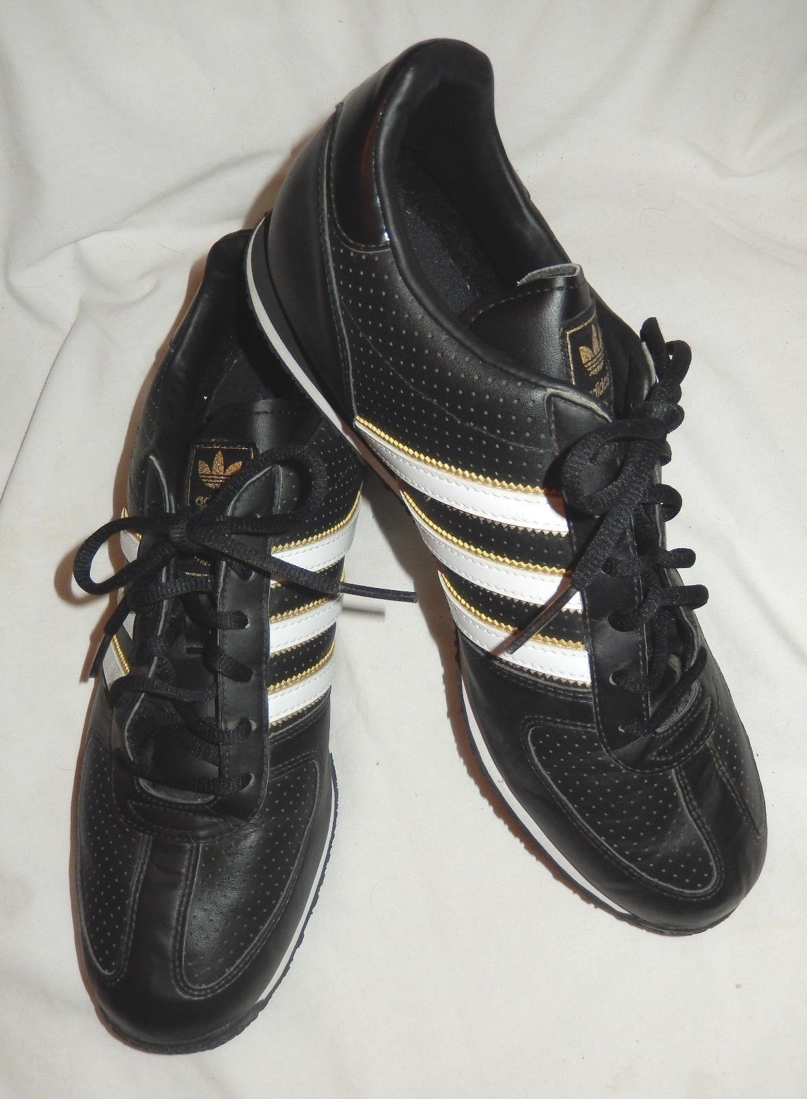 newest collection bce6f 286e4 Adidas 3 Streifen Black White Leather and 50 similar items