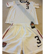 Authentic Nike USA Home Soccer Jersey & Shorts Lot Mens Size Large Rare - €162,24 EUR