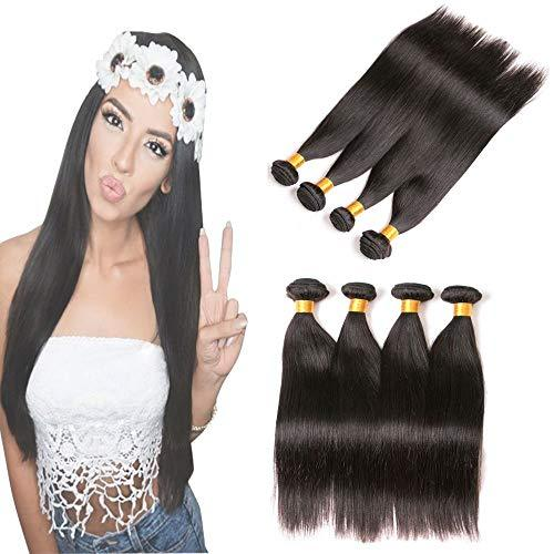 9A Brazilian Straight Hair 4 Bundles 8 10 12 14 inch 9a Virgin Human Hair Weave