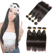 9A Brazilian Straight Hair 4 Bundles 8 10 12 14 inch 9a Virgin Human Hair Weave