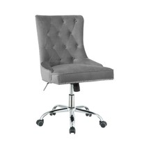 Tufted Back Office Chair Grey And Chrome - $493.99