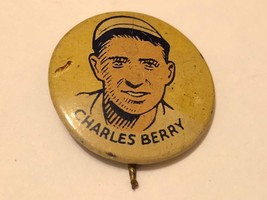 1933 Cracker Jack Charles Berry White Sox Baseball Player Pinback Button - $19.75