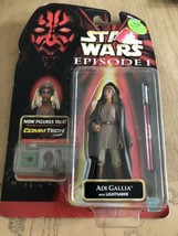 Adi Gallia Star Wars Episode I Tpm Coll. 3 Comm Tech Chip 1999 Hasbro *Red Saber? - $7.43