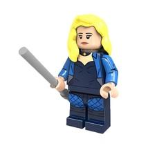 1 Pcs Super Hero Figure Black Canary With Stick Fit Lego Block Minifigur... - $6.99
