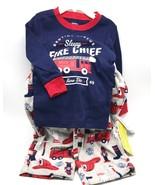 Carter's Boys' Two Piece Sleepy Fire Chief Fleece PJ's SZ 18 MO - NEW wi... - $14.95