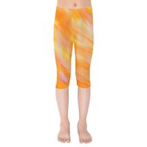 Sunset Orange Girls Capri Leggings - $35.99+