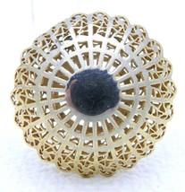 Vtg 1930-40s Crown Trifari Gold Tone Rare Dome Filigree Pin Brooch - $74.25