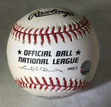LOU BROCK / MLB HALL OF FAME / AUTOGRAPHED NL BASEBALL IN CUBE / STEINER MLB COA image 3
