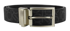 Calvin Klein Ck Men's Leather Reversible Buckle Belt 3 Piece Set Box Black 74360 image 3