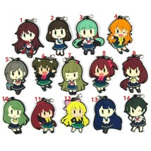 BATTLE GIRL HIGH SCHOOL Keychain Anime Game Rubber Strap Charm Kanon - $3.85+