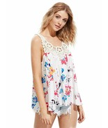 Romwe Women'S Floral Print Sleeveless Casual Loose Fit Cut Out Tank Top - $7.99